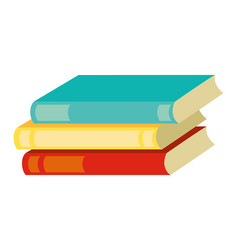 stack books supply on white background vector image