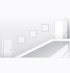 Stairs and doors vector