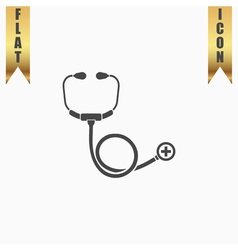 Stethoscope flat icon vector