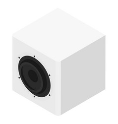 subwoofer isometric view isolated on white vector image