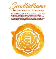 Swadhistana chakra symbol vector