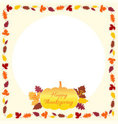 thanksgiving banner card frame template with vector image