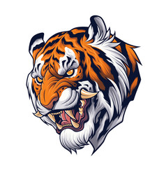 tiger head in japanese style depiction vector image