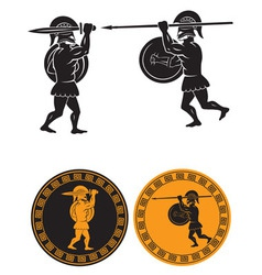 Two gladiators vector