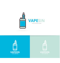vape logo unique electronic cigarette vector image