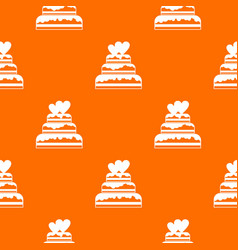 wedding cake pattern seamless vector image vector image