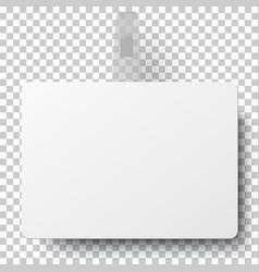 White paper rectangular advertising wobbler vector