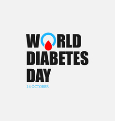 world diabetes day image design vector image