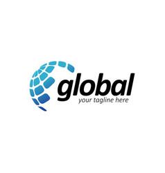world global logo design templatecreative vector image
