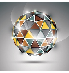 Abstract 3D vivid gala sphere with gemstone effect vector image vector image