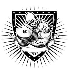 bodybuilder shield vector image