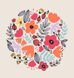 fantasy flowers card vector image vector image