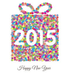 Happy new year 2015 gift vector image