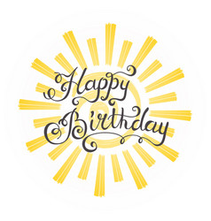 hipster vintage label badge happy birthday for vector image