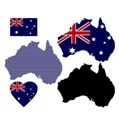 map of Australia vector image vector image