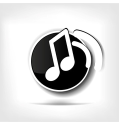 Music web icon vector image vector image