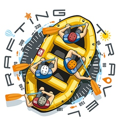 Rafting Travel Boat vector image vector image