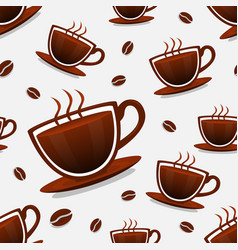 seamless background of coffee vector image