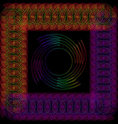 abstract round object in a frame made of wire vector image