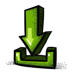 cartoon image of torrent icon arrow symbol vector image vector image