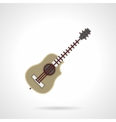 Kinds of guitar flat color icon vector image