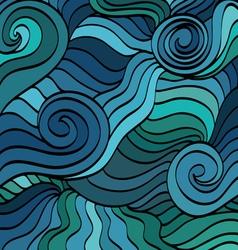 marine wave patterns vector image