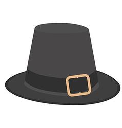 Pilgrim hat vector image
