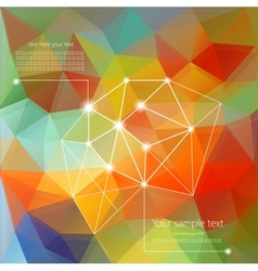 Abstract Retro Geometric Background with place for vector image vector image