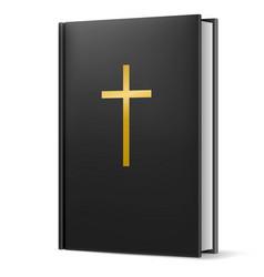 bible on black background for design vector image