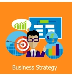 Business Strategy Concept Design Style vector image