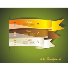 Colorful ribbon for your design vector image