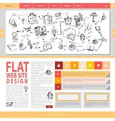 Flat web site design vector