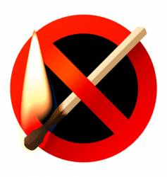 no open fire sign vector image vector image