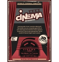 Red Carpet Cinema Poster vector image vector image