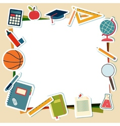 school supplies and tools with place for text vector image vector image