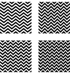 set of seamless zigzag pattern vector image vector image
