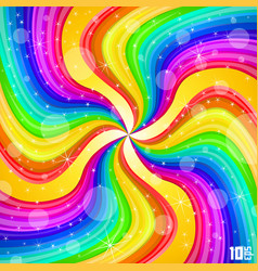 spiral rainbow background vector image