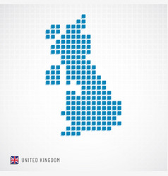 Uk map and flag icon vector
