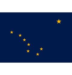 Alaskan state flag vector image vector image