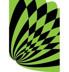 Black and green background for brochure or cover vector image vector image