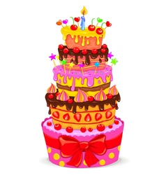 Celebratory cake vector