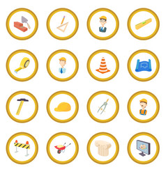 repair and construction working tools icon circle vector image vector image