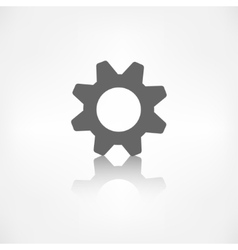 Settings icon Gear symbol Tools vector image