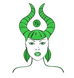 Zodiac sign of capricorn vector