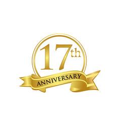 17th anniversary celebration logo vector image