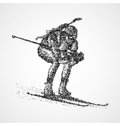 abstract biathlon sportsman vector image