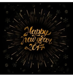 Background for 2017 happy new year and christmas vector image