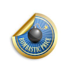 bombastic price sticker vector image