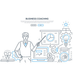Business coaching - modern line design style web vector
