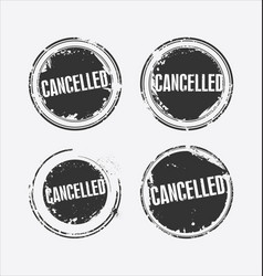 cancelled grunge retro style isolated seal 2 vector image